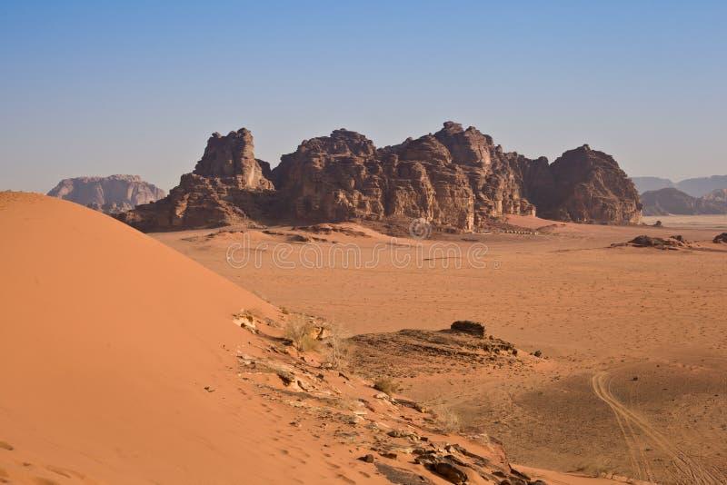 The desert from above - Jordan stock image