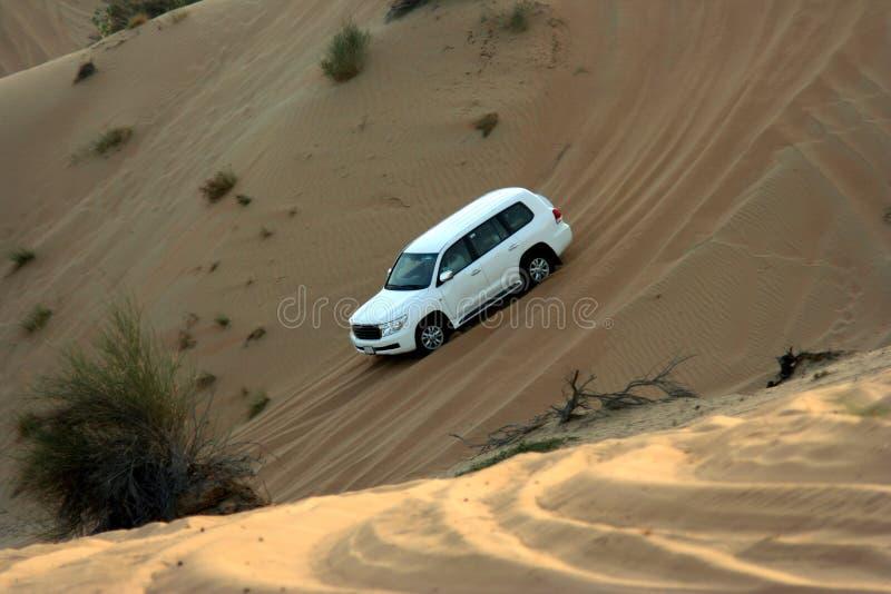 Desert adventure drive. Dune bashing in the desert stock photo