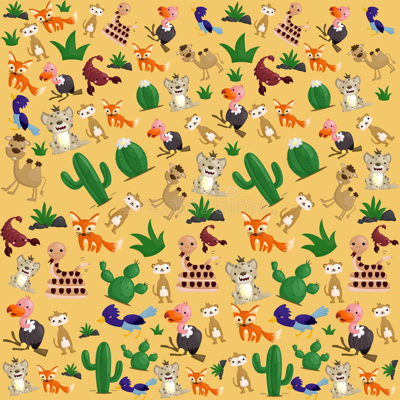 Desert animal Background. A background of Desert animal vector illustration