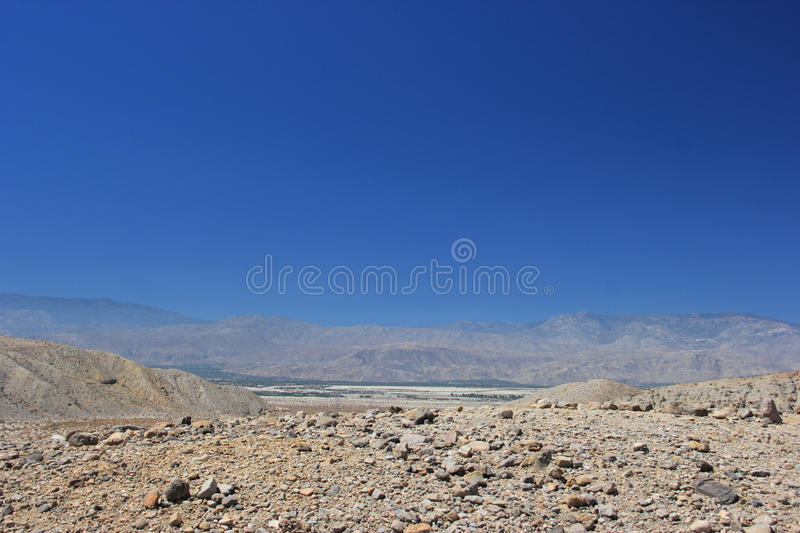 Desert Area near Thousand Palms Oasis Preserve in the Coachella stock images