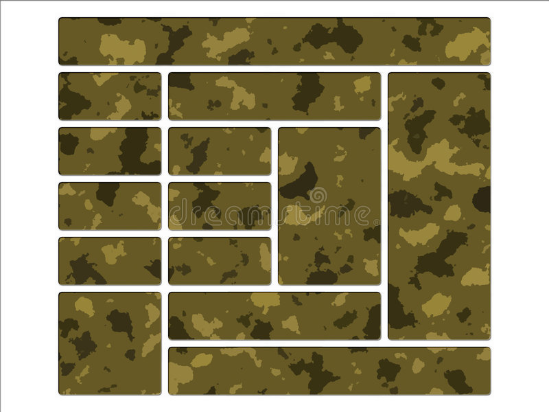 Download Desert Army Camouflage Website Navigation Buttons Stock Illustration - Image: 5928468