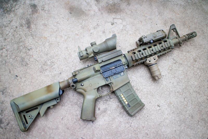Desert Assault rifle royalty free stock image