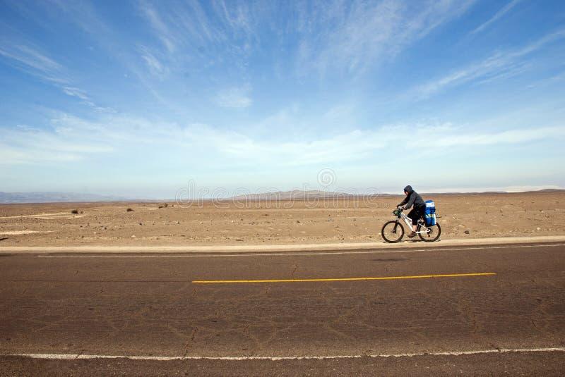 Desert biker royalty free stock photos