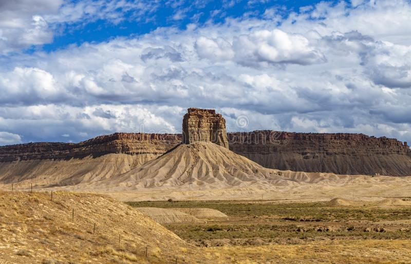 Desert Butte In The  Southwest USA. Near the four corners area of AZ, CO, UT, & NM royalty free stock photography