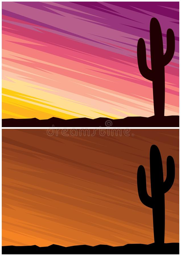 Download Desert Cactus stock vector. Image of texas, background - 23201264