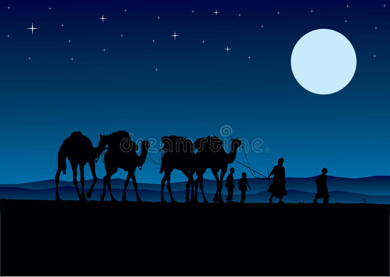 Download Desert Camels Caravan Royalty Free Stock Photography - Image: 10123877