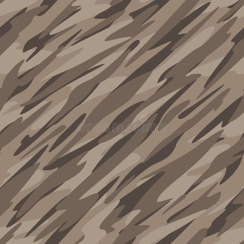 Desert Camouflage Abstract Seamless Repeating Pattern Vector Illustration stock photo