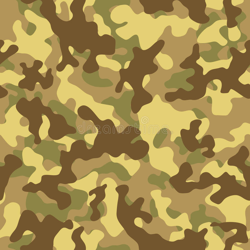 Desert Camouflage Seamless Pattern royalty free illustration