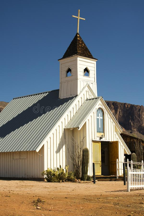 Desert Chapel near Phoenix. Arizona royalty free stock photo