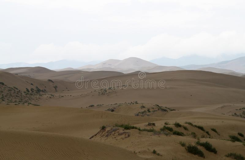 Desert in china of the northwest royalty free stock images