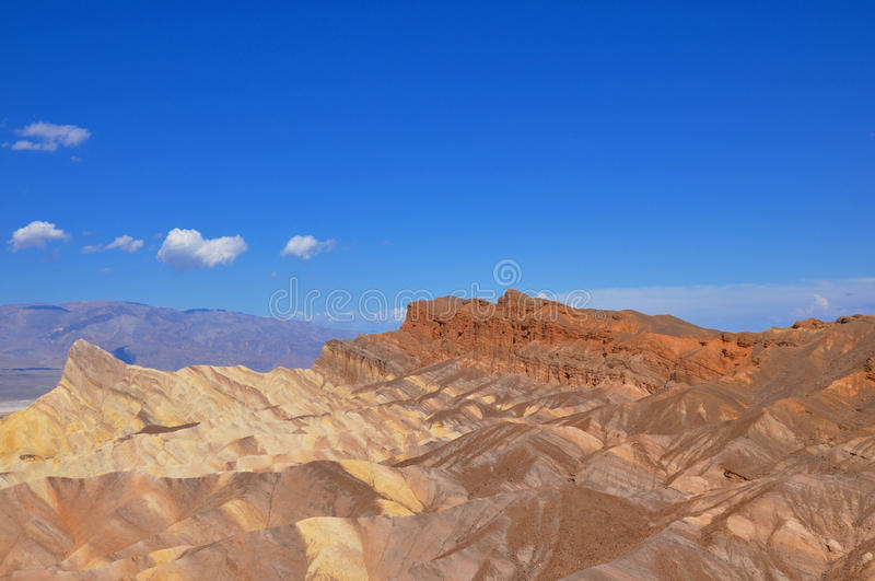 Desert Colours. A photo taken of colourful ridges in the mountain of Death Valley royalty free stock photo