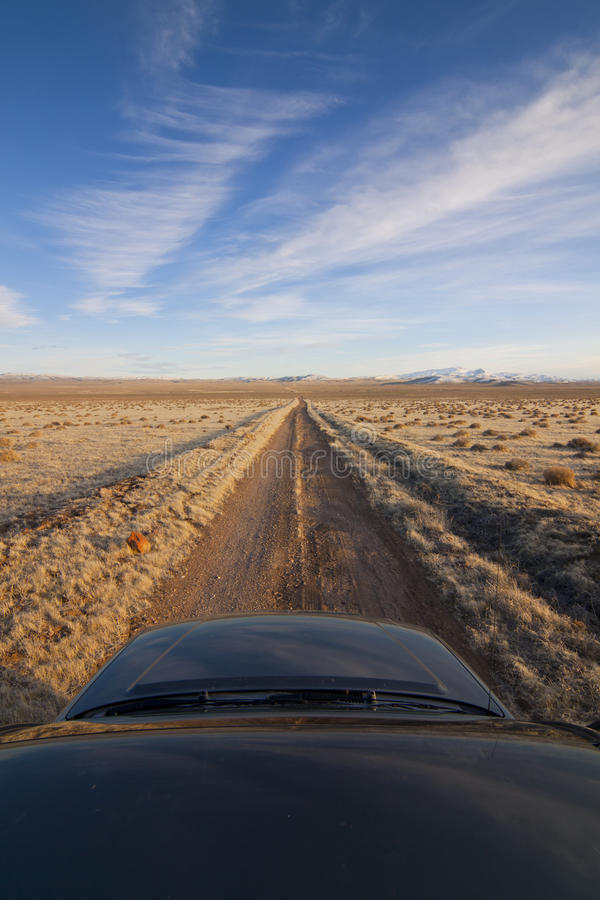Download Desert Dirt Road With Truck Stock Photo - Image: 23943064