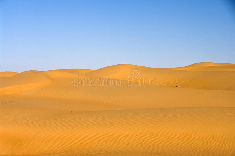 Desert Dune, Wahiba Sands, Oman stock photo