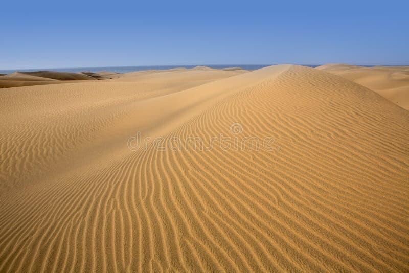 Desert Dunes Sand In Maspalomas Gran Canaria Royalty Free Stock Photography