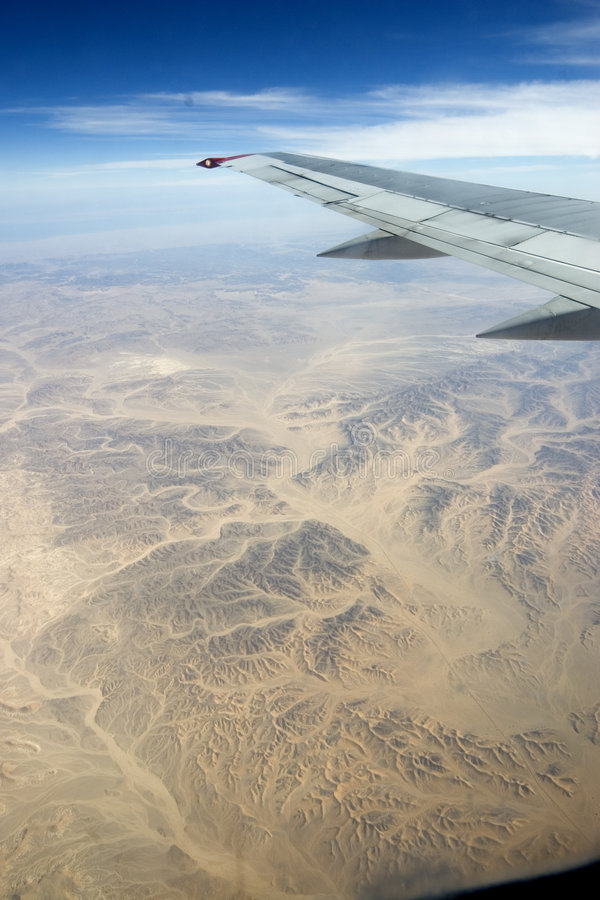 Desert, Egiped, sand, plane royalty free stock image
