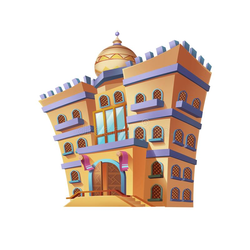 Free Desert Emirates Palaces Arabian Architecture. Game Assets Card Object Buildings Royalty Free Stock Photos - 130160808