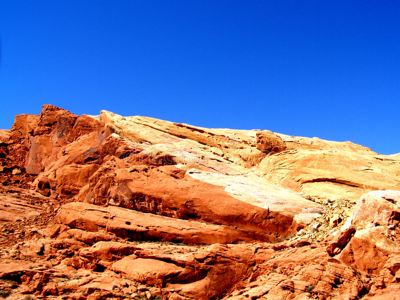 Desert Fingerprint. Rock formation found in the Valley of Fire in Nevada stock photo