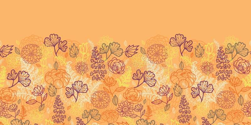 Download Desert Flowers And Leaves Horizontal Seamless Stock Vector - Illustration of illustration, autumn: 30893039