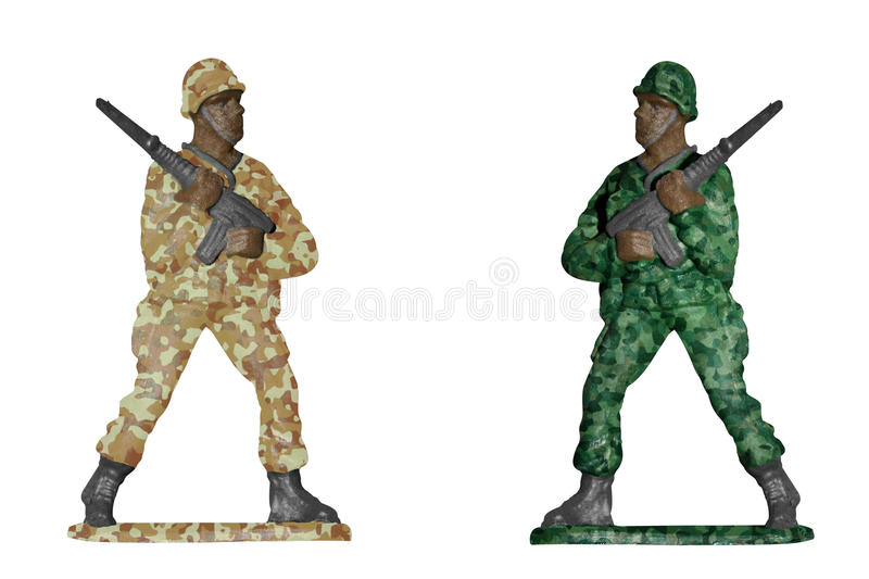 Download Desert And Forest Camouflage Soldiers Stock Photo - Image: 26614312