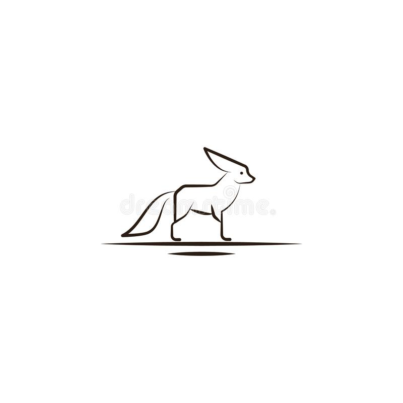 desert fox, animal icon. Element of desert icon for mobile concept and web apps. Hand draw desert fox, animal icon can be used for stock illustration