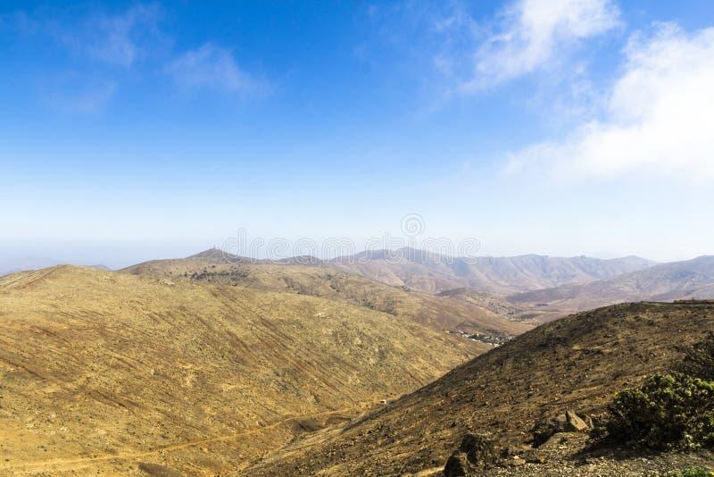 Desert in Fuerteventura stock photography