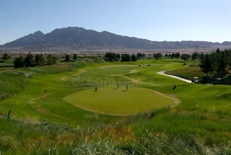 Desert Golf stock image