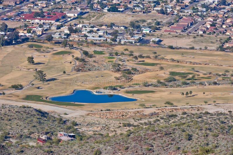 Desert golf course royalty free stock image
