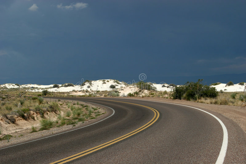 Desert highway royalty free stock image
