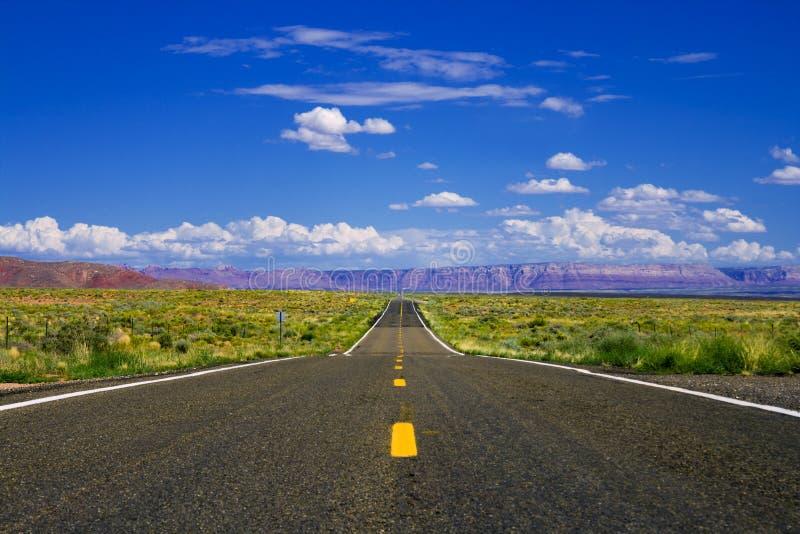 Desert highway royalty free stock photos