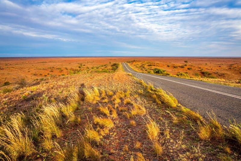 Desert Highway in outback Australia royalty free stock photo