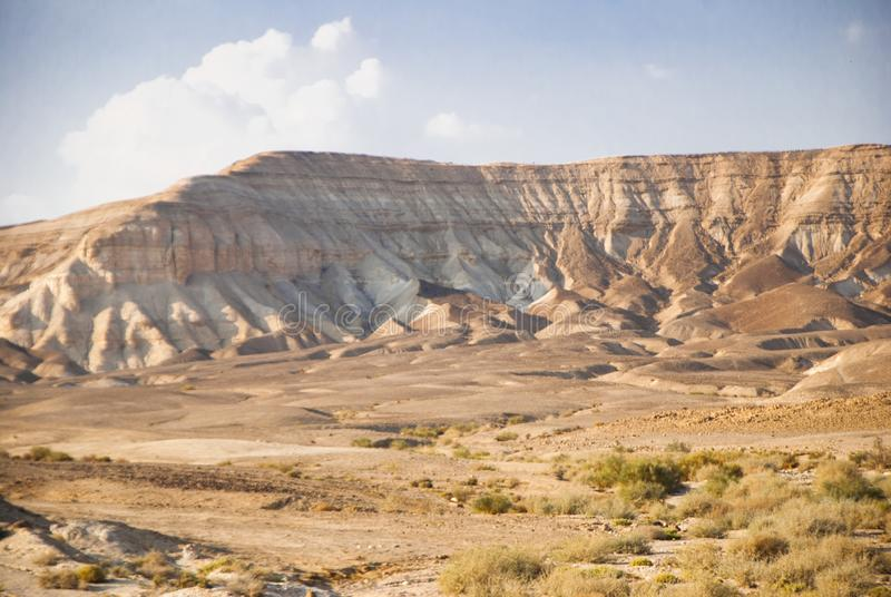 Desert hills and reflective Salty dead Sea and many others royalty free stock photo