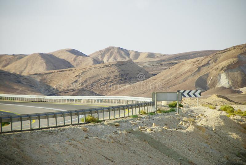 Desert hills and reflective Salty dead Sea and many others royalty free stock photography