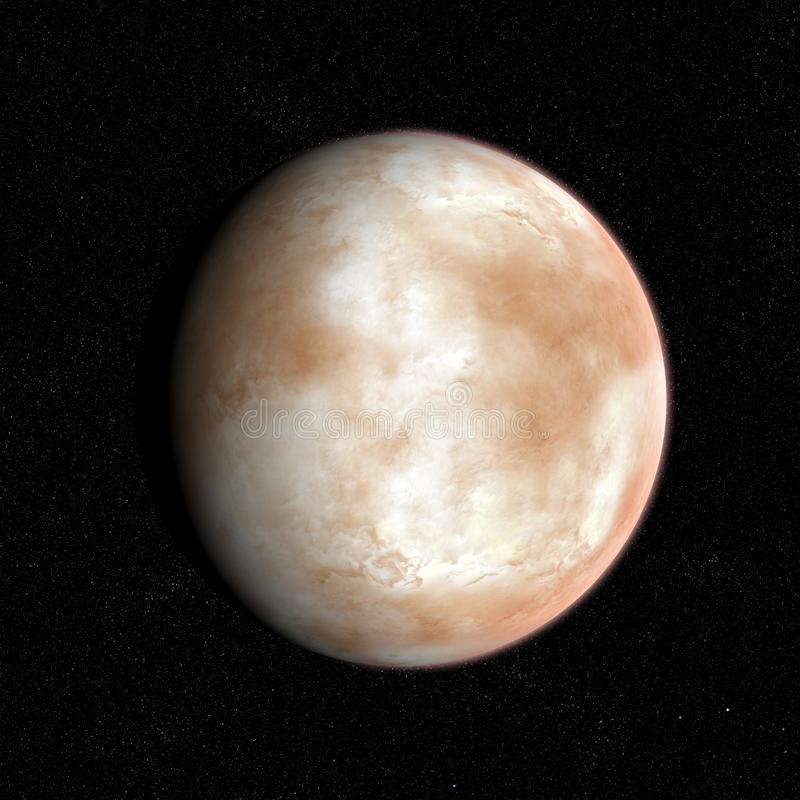 Desert and ice planet. stock photos