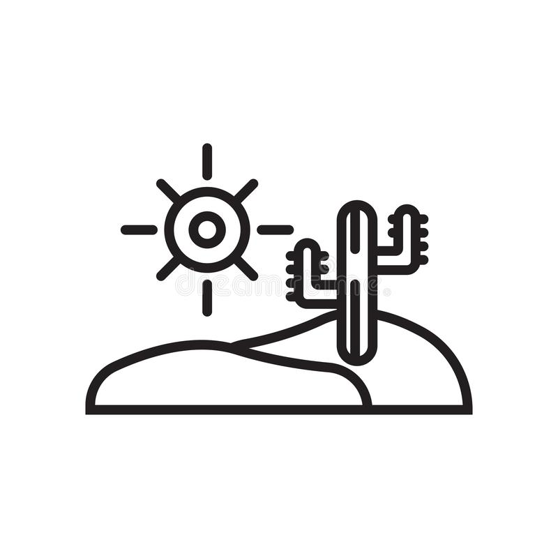 Desert icon vector sign and symbol isolated on white background stock illustration