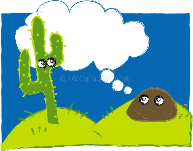 Desert Illustration stock photo