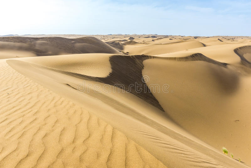 Desert in Iran. Sand dunes of Maranjab Desert in Iran royalty free stock images