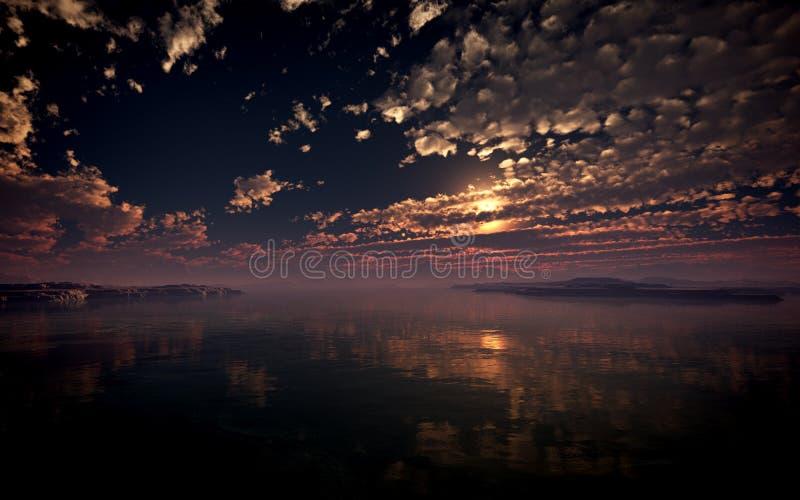 Desert Islands Sunset stock photos