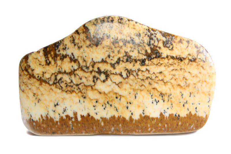 Desert jasper mineral macro isolated on white stock image