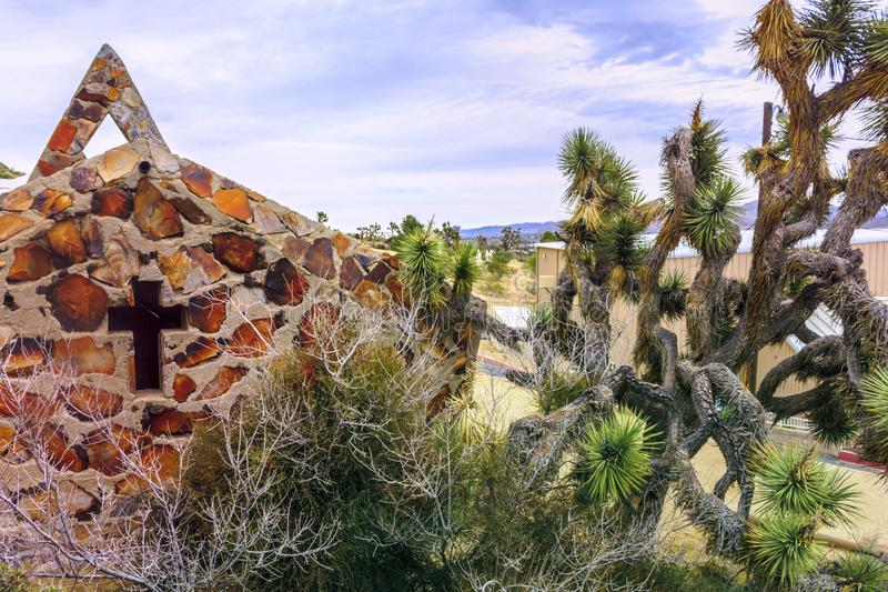 `Desert Jesus Christ park` is located in the Southern California town of Yucca Valley, San Bernardino County, California, USA. `Desert Jesus Christ park` is royalty free stock photo