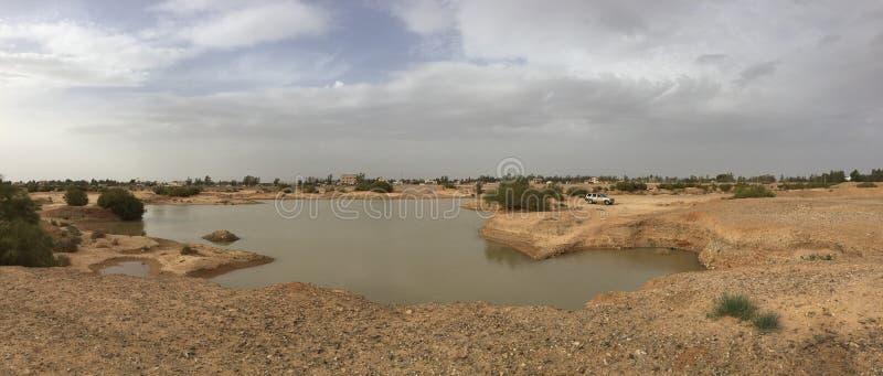 Desert lake in Jordan stock image