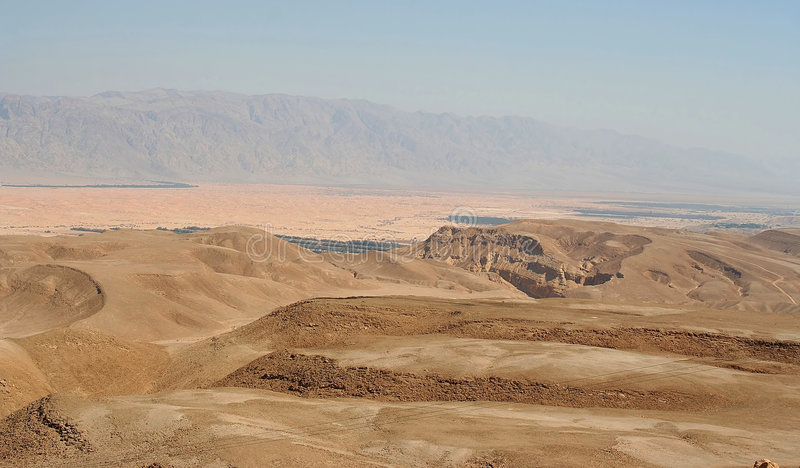Desert landscape. In the south of Israel royalty free stock image