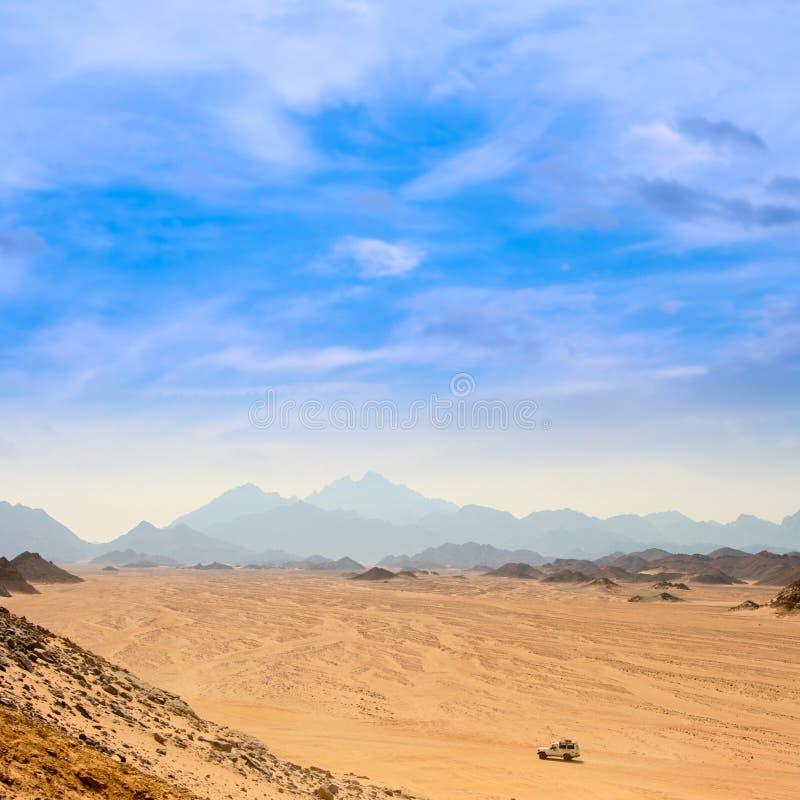 Desert landscape. Landscape of rock desert Sahara in Egypt royalty free stock photography