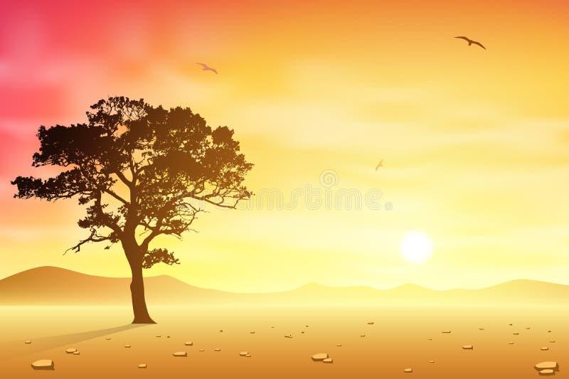 Download Desert Landscape stock vector. Image of vector, sunrise - 27901854