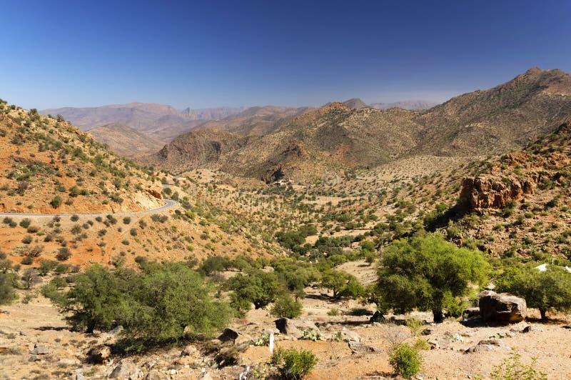 Desert landscape in Antiatlas Mountains stock photography