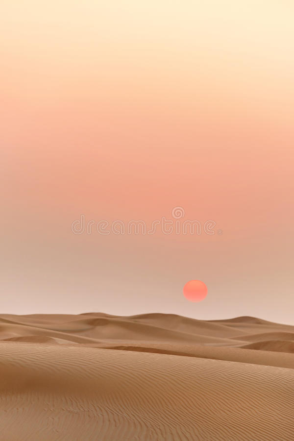 Free Desert Landscape At Sunset Royalty Free Stock Image - 79590346