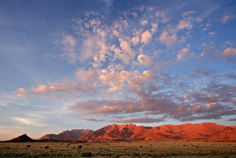 Desert landscape, Brandberg mountain, Namibia stock photos