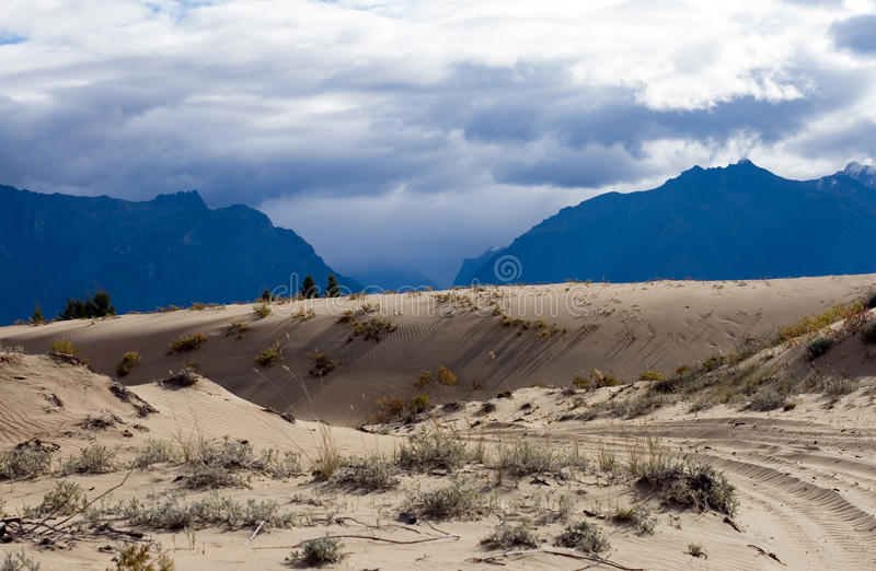 Desert landscape in Chara, Siberia