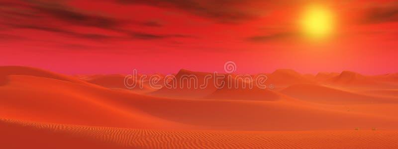Desert landscape in a distant world vector illustration