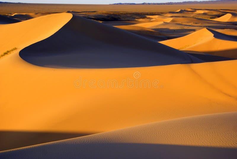 Desert landscape, Gobi desert, Mongolia. Desert landscape in Gobi desert, Mongolia royalty free stock photography