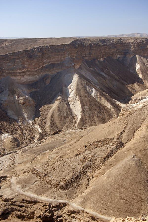 Desert landscape from Masada royalty free stock image